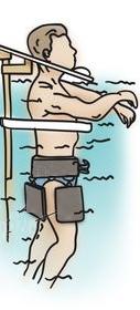 Вертикальное вытягивание пзвоночника под водой